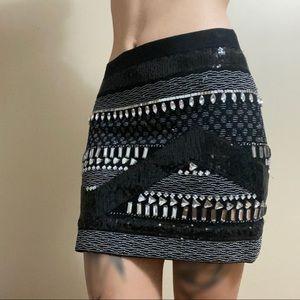 Unique sequin and jewel mini skirt